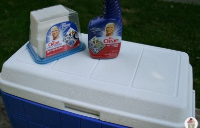 clean ice chest